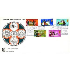 1970 Anniversaries - Co-operative Alliance handstamp