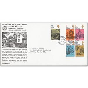 1970 Literary Anniversaries Chigwell Official - Victorian Style Duplex Handstamp