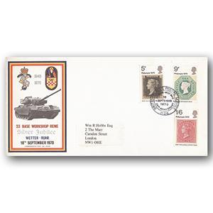 1970 Philympia Stamp Exhibition - British Forces Postal Service handstamp