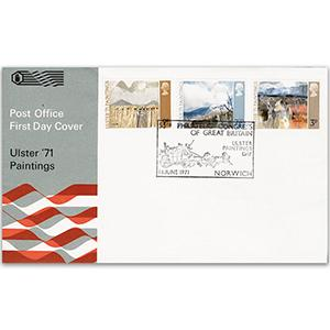 1971 Ulster Paintings - Philatelic Congress Pictorial Handstamp