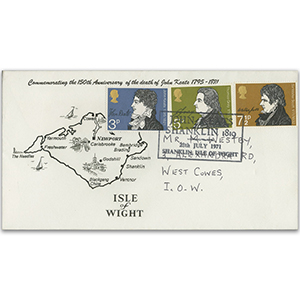 1971 Literary Anniversaries - Shanklin Handstamp