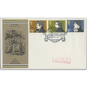 1971 Literary Anniversaries - Stoke Court Handstamp - Carried