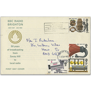 1972 B.B.C., B.B.C. Radio Brighton slogan on B.B.C. cover