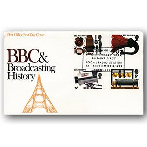 1972 BBC Broadcasting Cover - Radio Leicester Handstamp