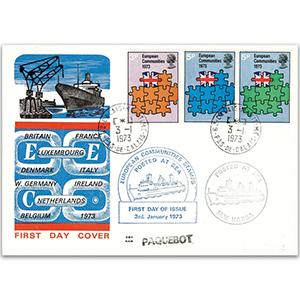 1973 European Economic Community - Calais Paquebot Cachet