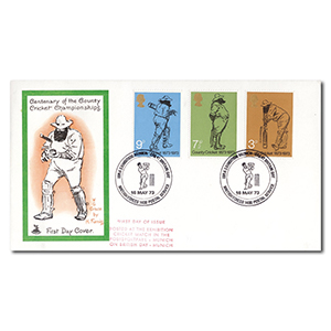 1973 County Cricket Centenary - British Forces Postal Service Cancel