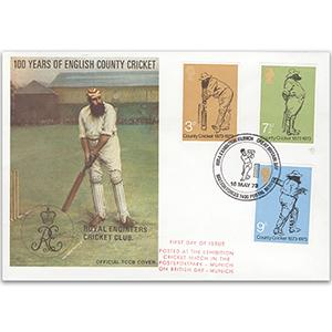 1973 County Cricket - British Forces Postal Service Handstamp