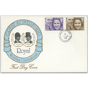 1973 Royal Wedding - Great Somerford CDS - Unaddressed