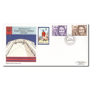 1973 Royal Wedding- British Forces Postal Service handstamp