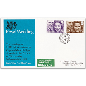 1973 Royal Wedding - Buckingham Palace Single-Ring CDS