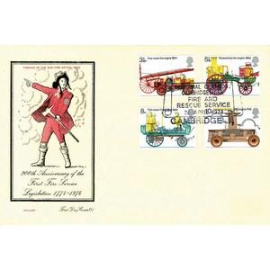 1974 Fire Services - Cambridgeshire Fire & Rescue handstamp