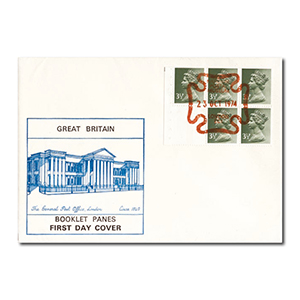 1974 3p Booklet Pane - National Postal Museum Handstamp