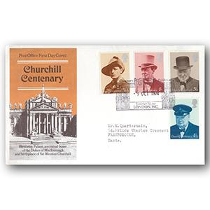1974 Churchill - Somerset House handstamp