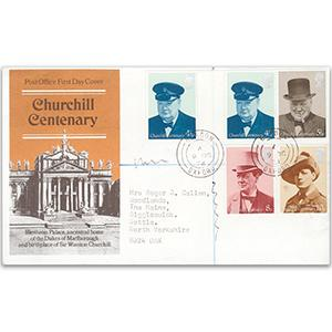 1974 Churchill - Bladon, Oxford counter date stamp