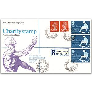 1975 Charity - Stoke charity counter date stamp