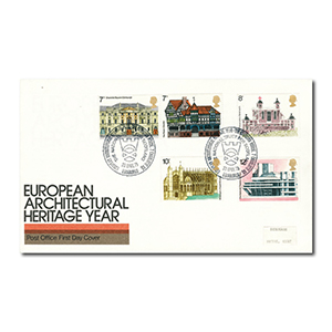 1975 Architectural Heritage - Edinburgh handstamp