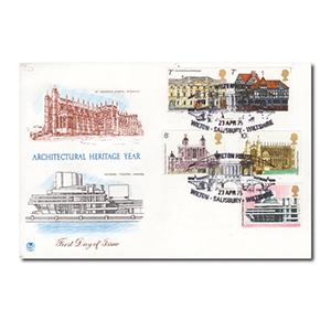 1975 Architectural Heritage - Wilton House Sailsbury handstamp