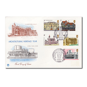 1975 Architectural Heritage - Charlotte Square Edinburgh handstamp
