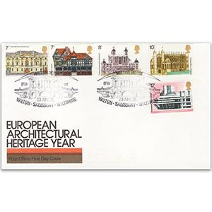 1975 Architecture - Wilton House handstamp