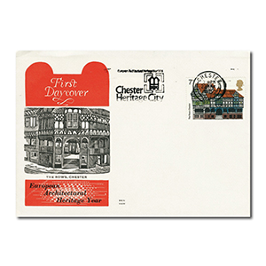 1975 Architecture - Single Stamp - Chester Heritage City Slogan