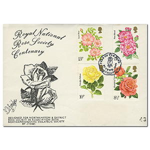 1976 Roses - Northampton Philatelic Society Handstamp