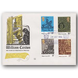 1976 William Caxton - Stow-on-the-Wold handstamp