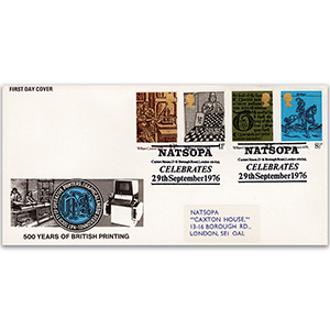 1976 William Caxton - N.A.T.S.O.P.A. official handstamp