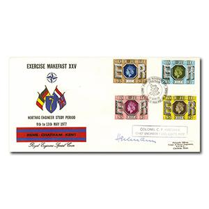 1977 Jubilee Royal Engineers Official - Exercise Makefast handstamp
