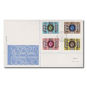 1977 Silver Jubilee Post Office Cover - Queen's Head CDS