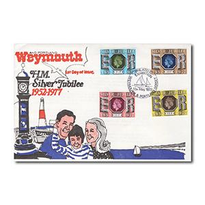 1977 Silver Jubilee - Weymouth & Portland Exhibition official handstamp