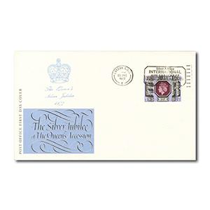 1977 Silver Jubilee 9p - International Air Tattoo postmark