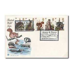 1977 British Wildlife - Army & Navy handstamp