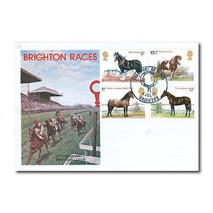 1978 Horses - Brighton Races official cover - Brighton 'Sport of Kings' handstamp