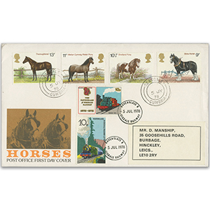 1978 Horses - Seascale CDS - R&E Railway Stamps