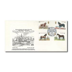 1978 Horses - Sutton-on-Trent Primary School official handstamp