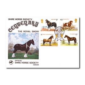 1978 Horses - Shire Horse Society official - Royal Show Kenilworth handstamp