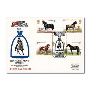 1978 Horses - World Dressage Championships - Goodwood official handstamp