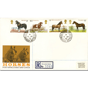 1978 Horses - Shireoaks CDS - Registered PO Cover