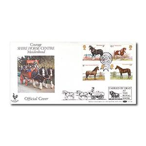 1978 Horses - B.O.C.S.4 - Royal Show Kenilworth handstamp