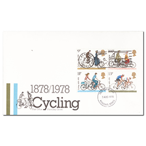 1978 Cycling - 'Mind that bike' Slogan Postmark