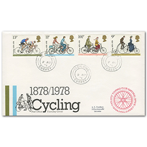 1978 Cycling, Godalming cds, Touring Club National Office cachet