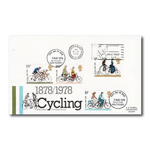 1978 Cycling - Mind That Bike slogan - Brighton First Day Issue