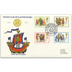 1978 Christmas - Clacton-on-Sea Rotary Club - 50 Years of Rotary in Clacton Official handstamp