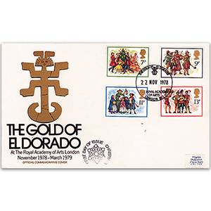 1978 Christmas - The Gold of El Dorado Official Cover - Royal Academy of Arts, London Handstamp