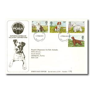1979 Dogs - People's Dispensary for Sick Animals -  Numbered Cover - MLO Redhill Cancel