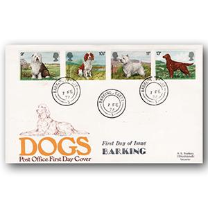 1979 Dogs - Barking double ring counter date stamp