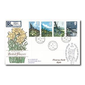 1979 Wild Flowers - Flowery Field, Hyde counter date stamp