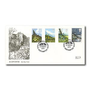 1979 Wild Flowers - Rural Blisworth Exhibition official handstamp