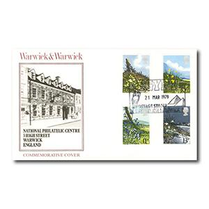 1979 Wild Flowers, Warwick & Warwick official - Egypt Postage Stamp Exhibition handstamp