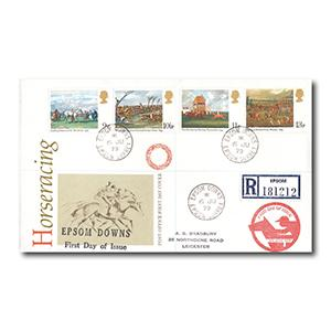 1979 Horseracing - Epsom Downs counter date stamp